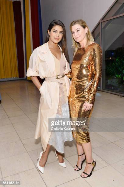 Priyanka Chopra and Ellen Pompeo at the Hammer Museum 15th Annual Gala in the Garden with Generous Support from Bottega Veneta on October 14 2017 in...
