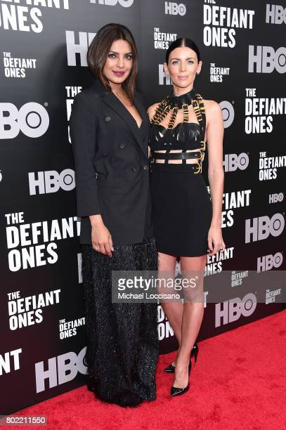Priyanka Chopra and Liberty Ross attend 'The Defiant Ones' premiere at Time Warner Center on June 27 2017 in New York City