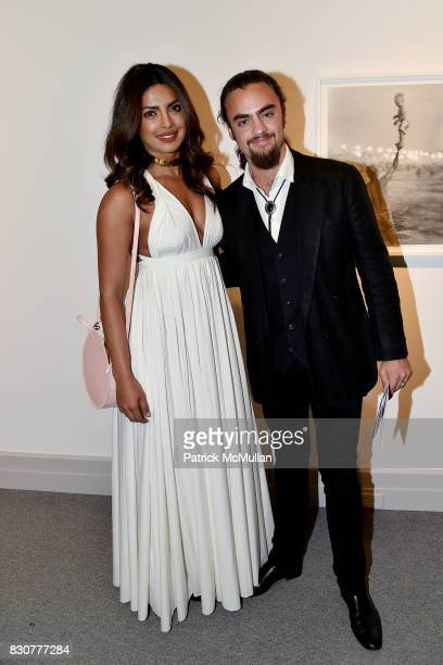 Priyanka Chopra and Michael Avedon attend the Guild Hall 2017 Summer Gala Celebrating AVEDON'S AMERICA at Guild Hall on August 11 2017 in East...