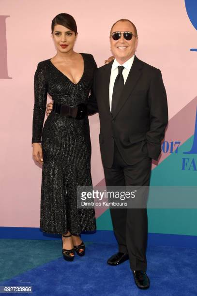 Priyanka Chopra and Michael Kors attend the 2017 CFDA Fashion Awards at Hammerstein Ballroom on June 5 2017 in New York City