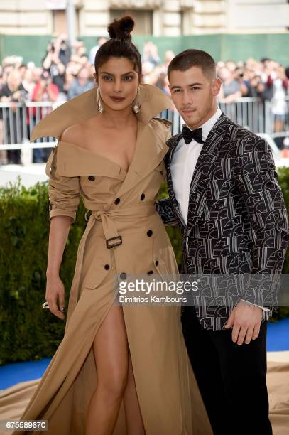 Priyanka Chopra and Nick Jonas attend the 'Rei Kawakubo/Comme des Garcons Art Of The InBetween' Costume Institute Gala at Metropolitan Museum of Art...