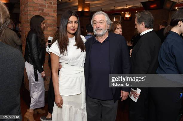 Priyanka Chopra and Robert De Niro attend the jury welcome lunch at Tribeca Grill Loft on April 20 2017 in New York City