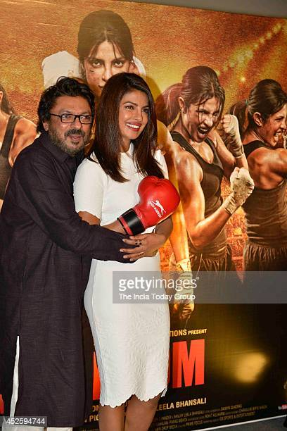 Priyanka Chopra and Sanjay Leela Bhansali at the trailer launch of their upcoming movie Mary Kom in Mumbai