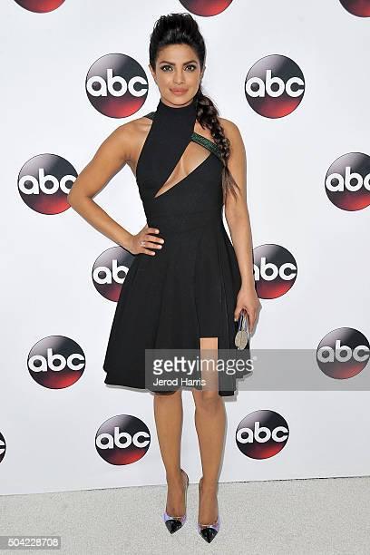 Priyanka Chopra arrives at the Disney/ABC 2016 Winter TCA Tour at the Langham Hotel on January 9 2016 in Pasadena California