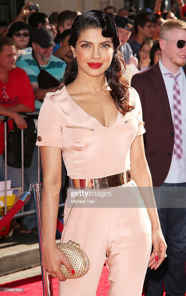 Priyanka Chopra arrives at the Los Angeles premiere of 'Planes' held at the El Capitan Theatre on August 5, 2013 in Hollywood, California.