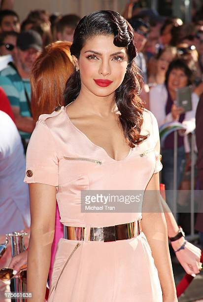 Priyanka Chopra arrives at the Los Angeles premiere of 'Planes' held at the El Capitan Theatre on August 5 2013 in Hollywood California
