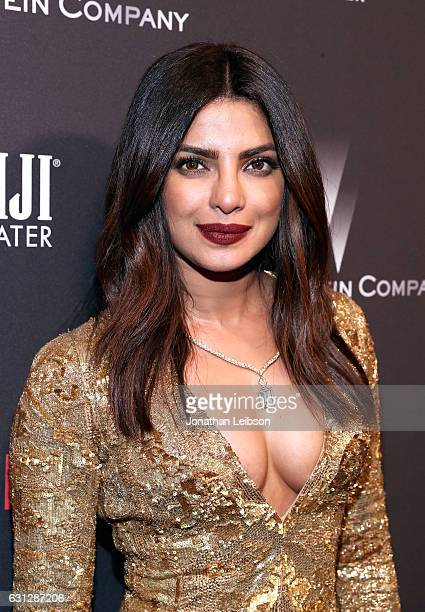 Priyanka Chopra at The Weinstein Company and Netflix Golden Globes Party presented with FIJI Water at The Beverly Hilton Hotel on January 8 2017 in...