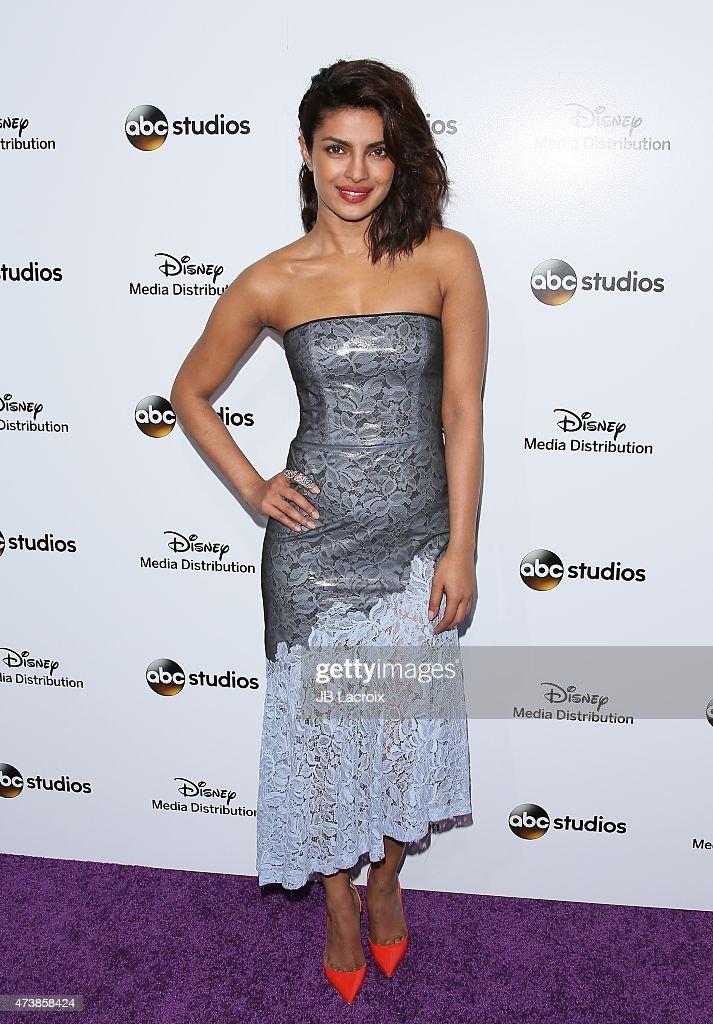 Priyanka Chopra attends Disney Media Disribution International Upfronts at Walt Disney Studios on May 17 2015 in Burbank California