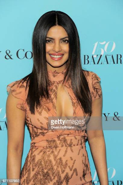 Priyanka Chopra attends Harper's Bazaar 150th Anniversary Party at The Rainbow Room on April 19 2017 in New York City