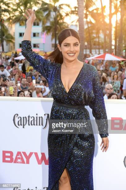 Priyanka Chopra attends Paramount Pictures' World Premiere of 'Baywatch' on May 13 2017 in Miami Florida