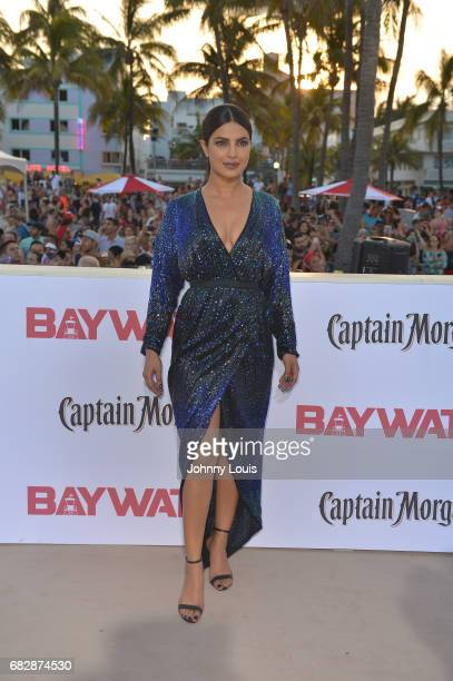 Priyanka Chopra attends Paramount Pictures' World Premiere of 'Baywatch' on May 13 2017 in Miami Beach Florida