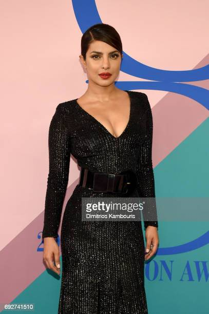 Priyanka Chopra attends the 2017 CFDA Fashion Awards at Hammerstein Ballroom on June 5 2017 in New York City