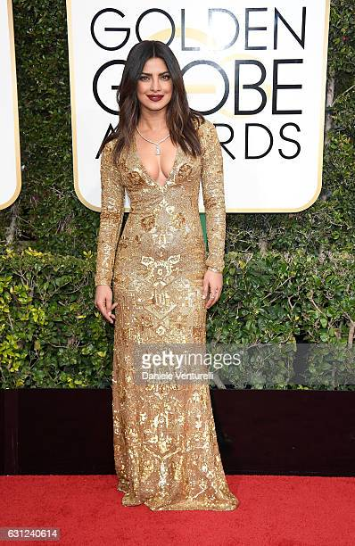 Priyanka Chopra attends the 74th Annual Golden Globe Awards at The Beverly Hilton Hotel on January 8 2017 in Beverly Hills California