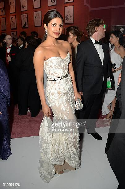 Priyanka Chopra attends the 88th Annual Academy Awards Governors Ball at The Hollywood Highland Center in Hollywood California on February 28 2016 /...