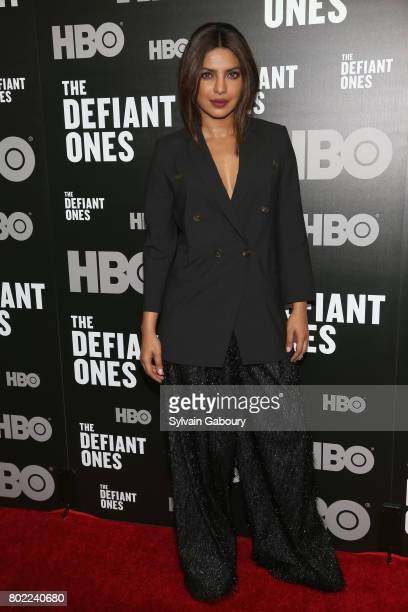 Priyanka Chopra attends 'The Defiant Ones' New York premiere on June 27 2017 in New York City
