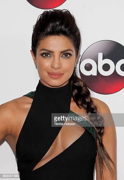 Priyanka Chopra attends the Disney/ABC 2016 Winter TCA Tour at Langham Hotel on January 9 2016 in Pasadena California