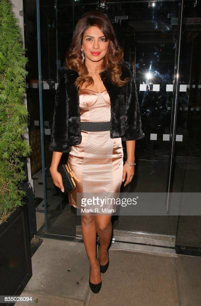 Priyanka Chopra attends the GUESS Loves Priyanka VIP Dinner at the London Edition Hotel on January 20 2014 in London England