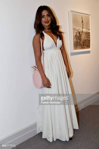 Priyanka Chopra attends the Guild Hall 2017 Summer Gala Celebrating AVEDON'S AMERICA at Guild Hall on August 11 2017 in East Hampton New York