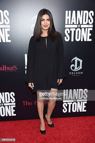 Priyanka Chopra attends the 'Hands Of Stone' US premiere at SVA Theater on August 22 2016 in New York City