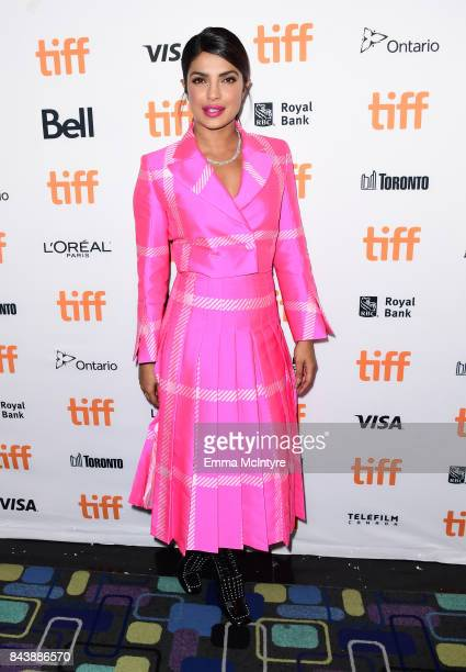Priyanka Chopra attends the 'Pahuna The Little Visitors' premiere during the 2017 Toronto International Film Festival at Scotiabank Theatre on...