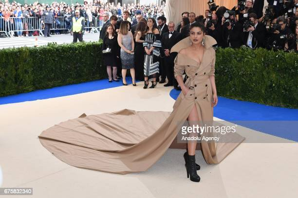 Priyanka Chopra attends the 'Rei Kawakubo / Comme des Garcons Art Of The InBetween' Costume Institute Gala 2017 at Metropolitan Museum of Art in New...