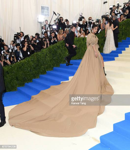 Priyanka Chopra attends the 'Rei Kawakubo/Comme des Garcons Art Of The InBetween' Costume Institute Gala at the Metropolitan Museum of Art on May 1...