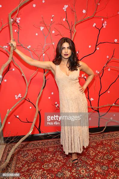 Priyanka Chopra attends the W Magazine and Hugo Boss Celebrate 'The Shot' event at the International Center of Photography Museum on September 12...