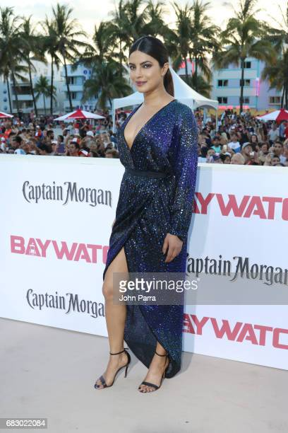 Priyanka Chopra attends the world premiere of Paramount Pictures film 'Baywatch' at South Beach on May 13 2017 in Miami Florida