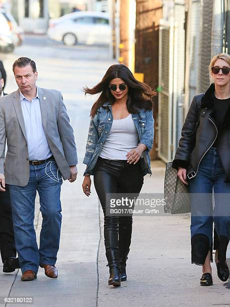 Priyanka Chopra is seen at 'Jimmy Kimmel Live' on January 19 2017 in Los Angeles California