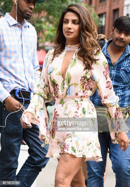 Priyanka Chopra is seen on July 24 2017 in New York City