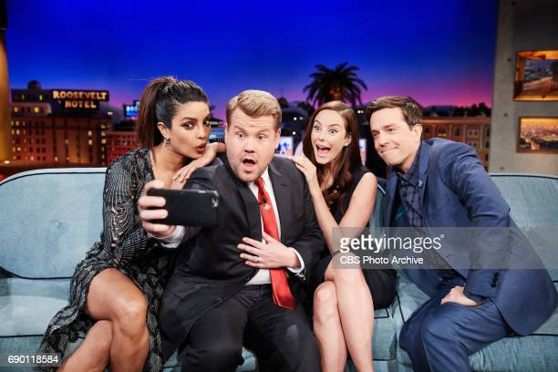 Priyanka Chopra Kaya Scodelario and Ed Helms chat with James Corden during 'The Late Late Show with James Corden' Tuesday May 23 2017 On The CBS...