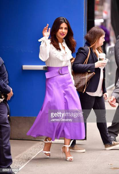 Priyanka Chopra leaves ABC's 'Good Morning America' in Times Square on May 22 2017 in New York City