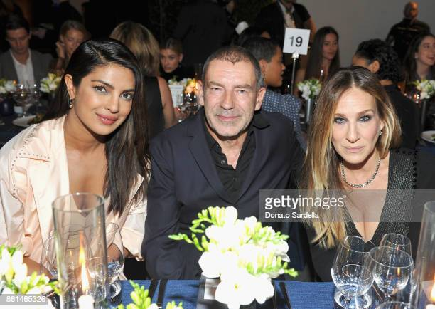 Priyanka Chopra Tomas Maier and Sarah Jessica Parker at the Hammer Museum 15th Annual Gala in the Garden with Generous Support from Bottega Veneta on...
