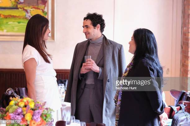 Priyanka Chopra Zac Posen and Barbara Kopple attend the jury welcome lunch at Tribeca Grill Loft on April 20 2017 in New York City