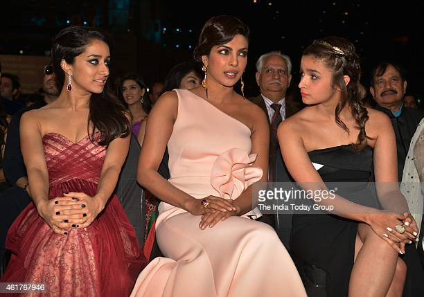 Priyanka ChopraAlia Bhatt and Shraddha Kapoor in Life ok screen awards 2015