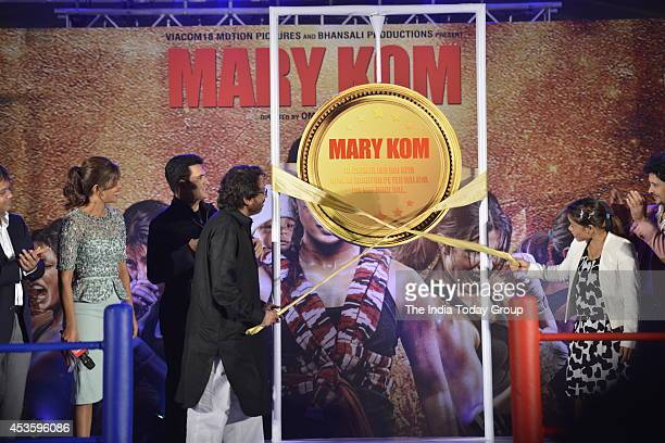 Priyanka ChopraSanjay Leela Bhansali and Mary Kom at the music launch of her upcoming movie Mary Kom in Mumbai