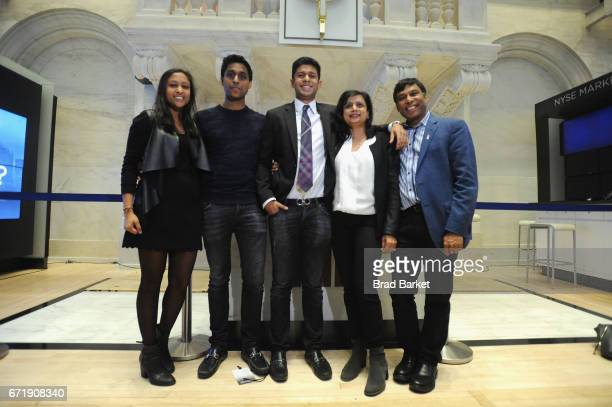 Priyanka Jain Founder and Chairman of Kairos Society Ankur Jain Neil Jain Anu Jain and Founder CEO of Viome Naveen Jain attend the Kairos Society...