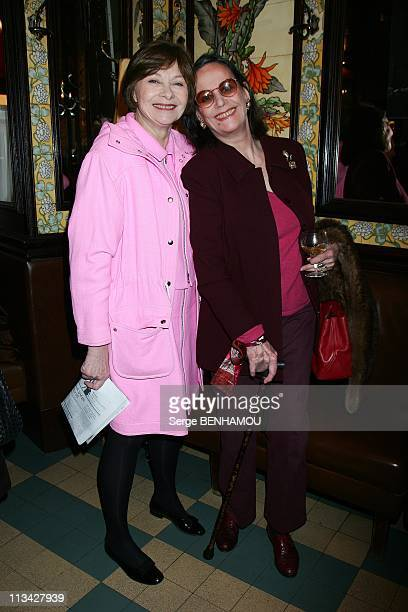 Prize CazesBrasserie Lipp 2009 In Paris France On March 17 2009 Macha Meril and Claudine Auger