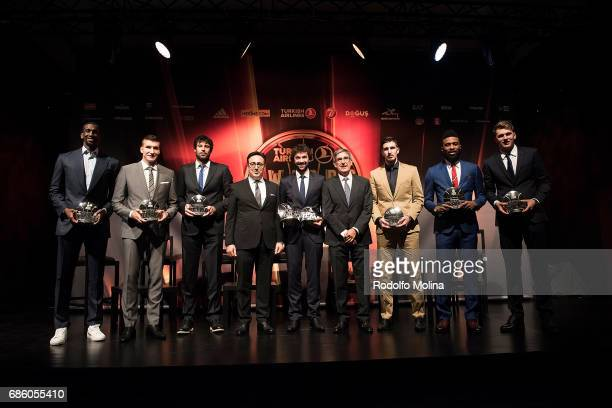 Prized players of the Season Mr Ilker Ayci Turkish Airlines Chairman of the Board and the Executive Committee and Jordi Bertomeu President and CEO...