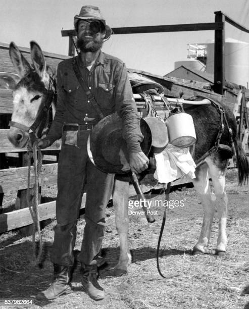 PrizeWinning Paraders Burro and mining equipment helped Robert Fuchs of Elbert Colo portray a pioneer prospector and win one of the top prizes in...
