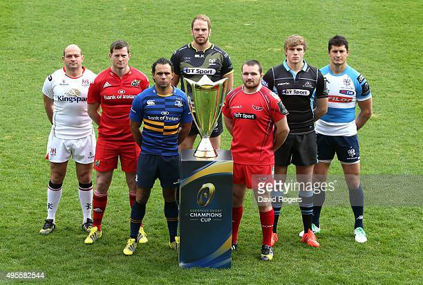 Pro 12 team captains Rory Best Ulster Denis Hurley Munster Isa Nacewa Leinster Alun Wyn Jones Ospreys Ken Owens Scarlets Jonny Gray Glasgow Warriors...