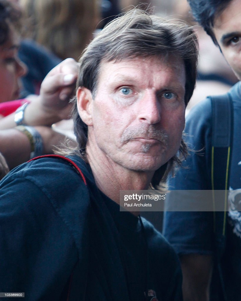 Pro Baseball pitcher Randy Johnson shoots pictures at OZZFest 2010 in San Bernardino CA at the San Manuel Amphitheater on August 14 2010 in San...