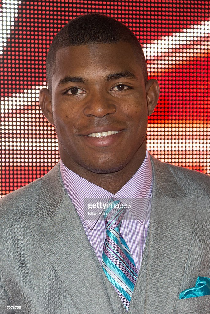 Pro Baseball Player <a gi-track='captionPersonalityLinkClicked' href=/galleries/search?phrase=Yasiel+Puig&family=editorial&specificpeople=10484087 ng-click='$event.stopPropagation()'>Yasiel Puig</a> attends The 40/40 Club 10 Year Anniversary Party at 40 / 40 Club on June 17, 2013 in New York City.