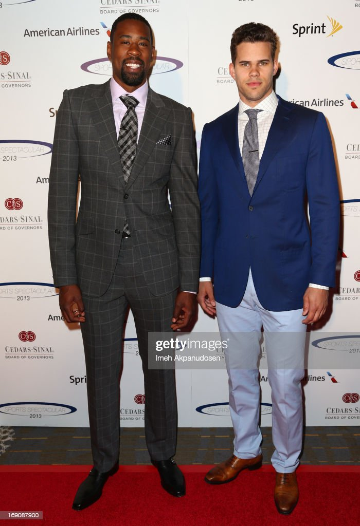 Pro basketball players DeAndre Jordan and Kris Humphries attend the 28th Anniversary Sports Spectacular Gala at the Hyatt Regency Century Plaza on May 19, 2013 in Century City, California.