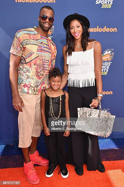 Pro basketball players Shelden Williams and Candace Parker with Lailaa Nicole Williams attend the Nickelodeon Kids' Choice Sports Awards 2015 at...