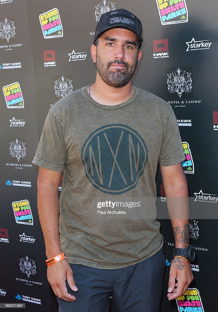 Pro BMX Rider Mike Escamilla 'Rooftop' attends the 10th Annual Stand Up For Skateparks benefiting the Tony Hawk Foundation on October 5, 2013 in Beverly Hills, California.