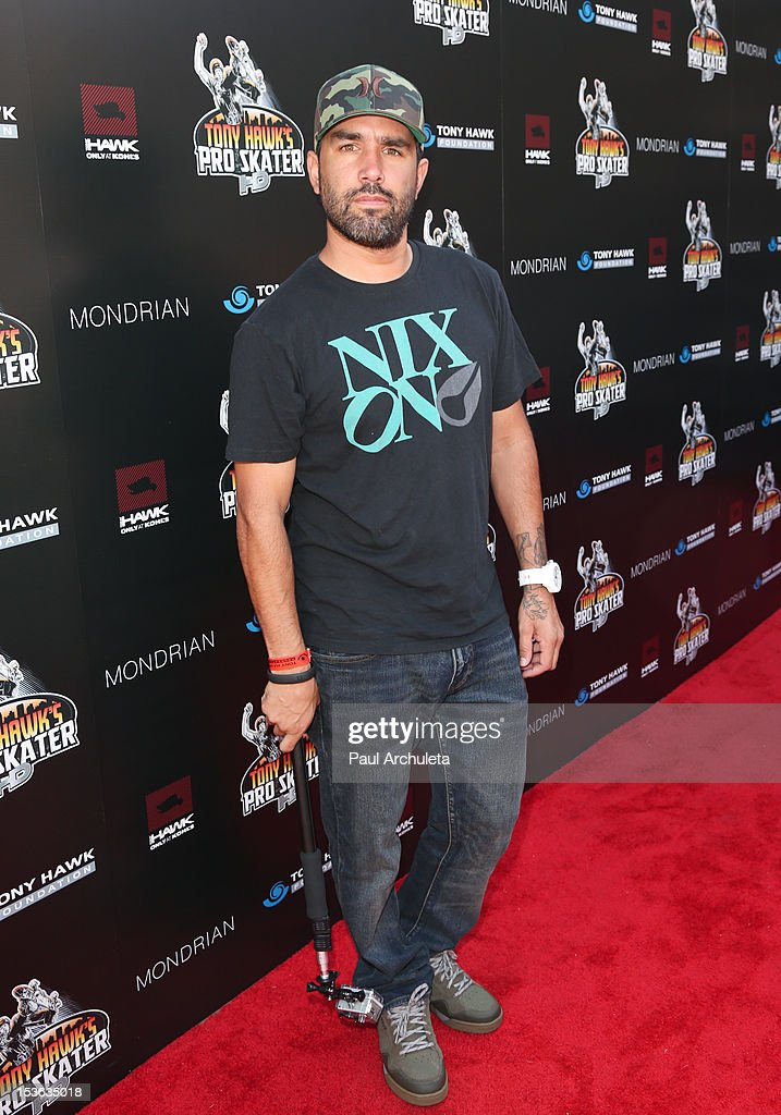 Pro BMX Rider / TV Personality Mike Escamilla attends the 9th annual Stand Up For Skateparks benefit at Ron Burkle's Green Acres Estate on October 7, 2012 in Beverly Hills, California.