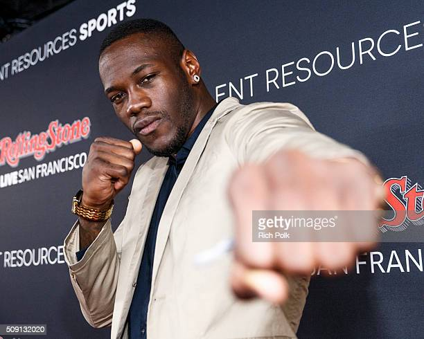 Pro boxer Deontay Wilder attends Rolling Stone Live SF with Talent Resources on February 6 2016 in San Francisco California