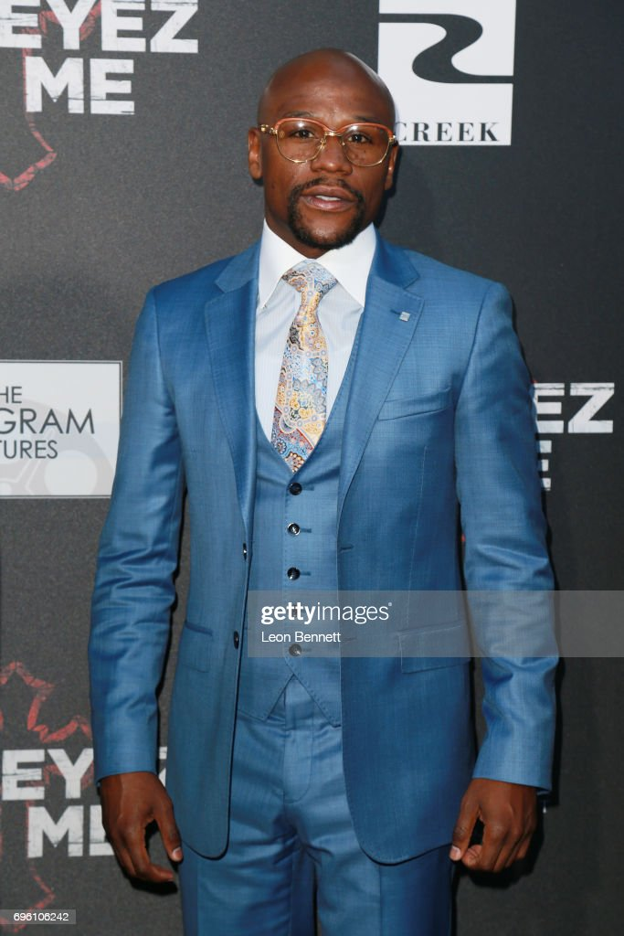 Pro Boxer Floyd 'Money' Mayweather attends the premiere of Lionsgate's 'All Eyez On Me' at the Westwood Village Theatres on June 14, 2017 in Los Angeles, California.