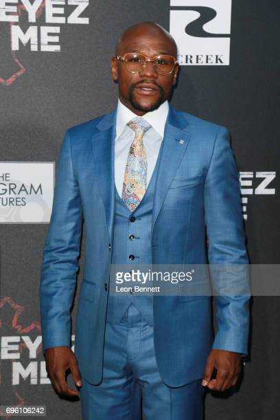 Pro Boxer Floyd 'Money' Mayweather attends the premiere of Lionsgate's 'All Eyez On Me' at the Westwood Village Theatres on June 14 2017 in Los...